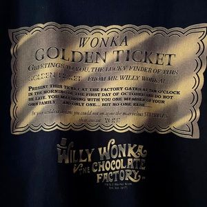 Other - 🎫 Willy Wonka Golden Ticket t-shirt 🎫